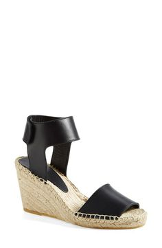 Pin for Later: Shop 23 Versions of Summer's Most Versatile Shoe Vince Leather Espadrille Wedge Sandals Vince Sophie Leather Espadrille Wedge Sandals ($295)