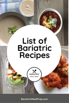 Bariatric Recipes - Bariatric Meal Prep - The Best Easy Healthy Recipes Weight Loss Meals, Bariatric Eating, Bariatric Recipes, Bariatric Surgery, Pureed Food Recipes, Healthy Recipes, Healthy Foods, Healthy Weight, Healthy Life