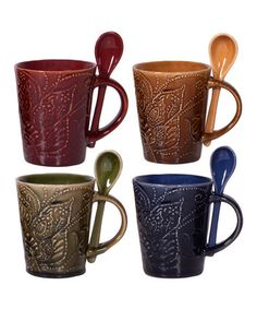 'Coffee' Mug & Spoon Set