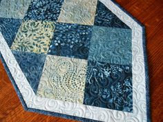 Hey, I found this really awesome Etsy listing at https://www.etsy.com/listing/252385190/quilted-blue-batik-table-runner-moda