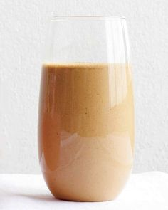 Your morning routine just became portable. Creamy peanut butter and banana come together with espresso powder in this smoothie that packs a punch.