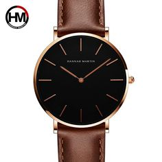 Cheap Women's Watches, Buy Directly from China HANNAH MARTIN Brand Fashion Simple Japan Quartz Movement Watch Leather Strap Nylon Clock Women Analog Waterproof Wristwatch Simple Watches, Casual Watches, Rose Gold Watches, Women's Watches, Ladies Watches, Wrist Watches, Black Watches, Quartz Watches, Dinner Party Outfits