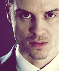 Andrew Scott as Jim Moriarty in Sherlock (BBC).