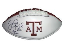Johnny Manziel Autographed Texas A&M Aggies Logo Football W/PROOF, Picture of Johnny Signing For Us, Texas A&M Aggies, Johnny Football, Heisman Trophy by Authentic_Memorabilia. $324.99. This is a Texas A&M Aggies logo football signed by Johnny Manziel. football has been signed in a black sharpie. This item will come with a Certificate of Authenticity (of our own design) as well as a picture of the athlete/celebrity signing for us. The picture of the athlete/celebrity ...