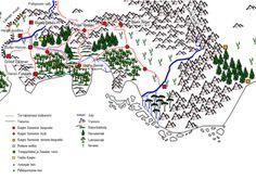 Kirjan tapahtumapaikkojen kartta Map from World of Muuri Books Sci Fi, Map, Books, Science Fiction, Libros, Location Map, Book, Maps, Book Illustrations