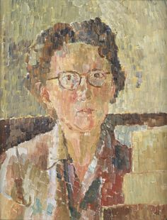 Grace Cossington Smith, Self portrait, 1948 >>> An Australian modernist artist of the early to mid 20th century.