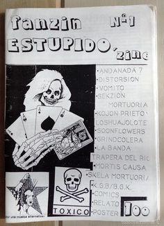 Fanzine Estupido Bilbao punk Hardcore Andanada 7 Distorsión Vomito Mortis Causa - Foto 1