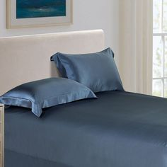 30-Momme-Silk-Sheets-Light-Blue 2