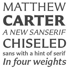 Loving partial serifs.
