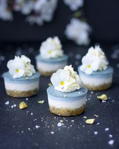 Ice Blue Lemon Cheesecake Bites | Vegan Recipes - Healthy Eating Jo - The Healthy Plant Based Foodie