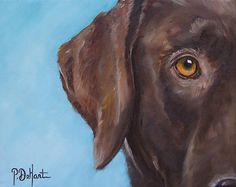 chocolate lab print of an original oil painting. I want a painting or print of HANK! This one is my favorite!