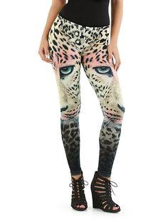 dots: Cheetah Face Leggings ... $10.00