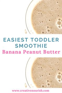 Sick baby or you just need to make something calorie dense quickly? Or you need a drink for the stroller cos you are scared of choking? A perfect recipe that in our family the adults drink for breakfast - the Banana Peanut Butter Smoothie. Toddler Smoothie Recipes, Toddler Smoothies, Baby Food Recipes, Snack Recipes, Toddler Recipes, Breakfast Recipes, Dinner Recipes, Dessert Recipes, Healthy Recipes