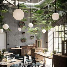 restaurant decor Bright Modeco Pendant Light in Off-white - Bright Modeco Pendant Light in Off-white by Nordic Tales Fy -
