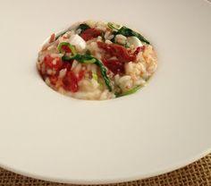 THERMOMIX: Risoto de tomate seco, rúcula e mussarela de búfal...