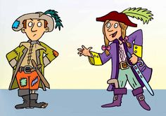 Pirate Children`- Photoshop Illustration Boy and girl dressed as Pirates taken from an educational project book. www.bretthudsonart.com