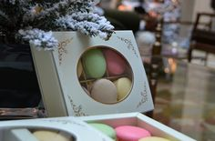 """The quickest way to love is through the stomach""  How about favor boxes of Macaroons at our December wedding? #LuxBride"