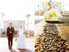 Classic Mesa Temple Shot!  The LDS Bride: Mesa, AZ LDS Temple Wedding: Kensley & Jim  We love Temples at: www.MormonFavorites.com