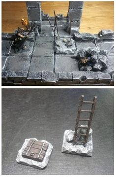 Explore Bugman6x's photos on Photobucket. Dungeons And Dragons Miniatures, D&d Dungeons And Dragons, Dungeon Tiles, Dungeon Maps, Tabletop Rpg, Tabletop Games, 3d Fantasy, Fantasy Craft, Warhammer Terrain