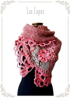 NIDO II handknitting and crochet lace cover by laslopezlas on Etsy, $105.00
