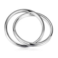 aliexpress silver friendship bangle Two Circles women bracelet Costume Jewellery SMTB150