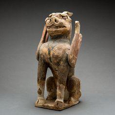 Tang Sculpture of a Spirit Guardian