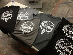 More shirts, hot off the press. Getting caught up with all orders