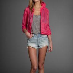 Womens Pink Nylon Jacket   #ABERCROMBIEHOT   Abercrombie.com