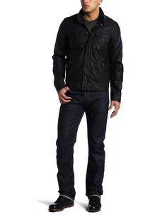 Levi's Men's Faux Leather Military Jacket