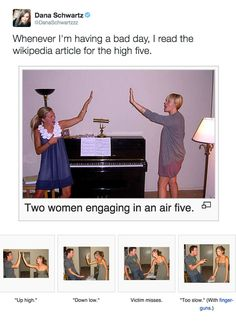 Let these tweets make you smile again. / This wonderful Wikipedia page: