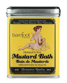 Barefoot Venus Mustard Bath ~ Softens skin, relieves stress, cures insomnia, opens pores, removes toxins from your body, loosens tight muscles, also great for when your feeling a little under the weather.