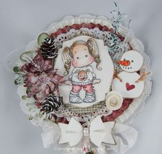 Annas scrap: Tilda with Holiday Sweather- Lollipopcard DT Copic, Diy Paper, Paper Crafts, Christmas Cards, Christmas Ornaments, Diy Ornaments, Paper Rosettes, Magnolia Stamps, Scrapbook Cards