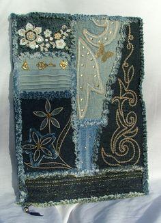 Denim patchwork notebook