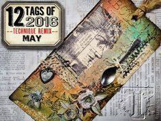 We are in LOVE with @tim_holtz's May #12tagsof2016remix! Those Tiny Tattered Florals make us so happy  by sizzix