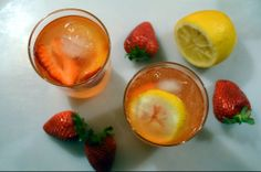 Homemade Ginger Ale & Strawberry Ginger Ale Cocktail. Delicious and refreshing