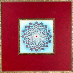 Maroon Spirals Mandala