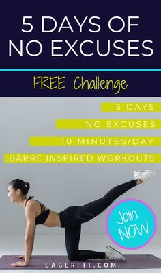 Bring the barre class challenge to your home! Are you ready to commit to a workout routine for 5 days? If so, join the challenge now! All it takes is 10 minutes a day. Get ready to sweat, burn fat, tone, and stretch. Daily barre workout videos will be delivered to your inbox. Barre Workout Video, Pilates Workout Routine, Workout Videos, Barre Workouts, Exercise Routines, Excercise, Upper Body Workout For Women, Health And Wellness Coach, Low Impact Workout