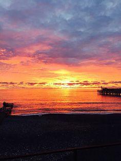 Море, небо, закат в Адлере