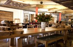 The new Pierre Cronje showroom in Johannesburg, South Africa. Fine Furniture, Showroom, Coffee Shop, Cool Designs, Restaurant, Flooring, South Africa, Table, Commercial