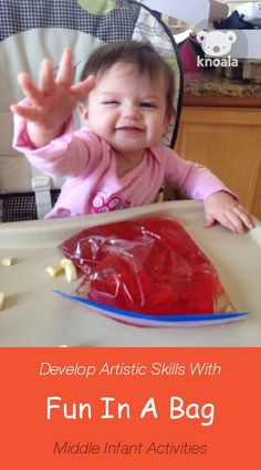 #Knoala Middle Infant activity 'Fun In A Bag' helps little ones develop Artistic and Sensory skills in just 5 mins. Click for simple instructions & 1000s more fun, easy, no-prep activities for kids ages 0-5! #activities #DIY