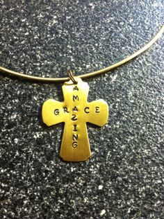 Amazing Grace - brass metal stamping plate.