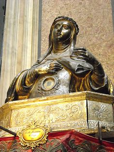 Silver bust-reliquary of Saint Maria Maddalena de' Pazzi (1692) - Treasure of Saint January Chapel in Naples   da * Karl *