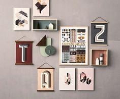 Ferm Living posterhouder esdoornhout - Make Room