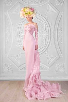 Lace And Silk Crepe Dress  Photographer: Odette Kahwaji  Makeup: Fady Kataya  Hair: Salon Le Jack  Model: Velvet Model Management