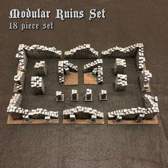The Ruins :: Modular Fieldstone Ruins Set - The Dungeon Caster modular terrain for D&D, Frostgrave, Rangers of Shadow Deep, Warhammer, Mordheim and other tabletop RPG's from Sydney Australia Tabletop Rpg, Tabletop Games, Dungeons And Dragons Board, Dungeon Tiles, Warhammer Terrain, Game Terrain, Wargaming Terrain, Mini Craft, Fantasy Inspiration