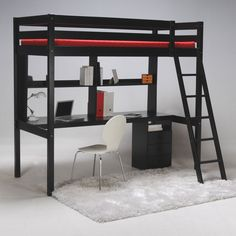 Lit mezzanine avec bureau chez delamaison.fr, idéal pour les petits espaces