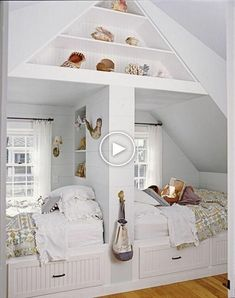 The Way to Create a Cozy Bed Nook For men and women that are tired of having to keep up with the lights and beds in the bunk or their bed, you may be searching for a new way to… Continue Reading → Attic Renovation, Attic Remodel, Attic Spaces, Small Spaces, Open Spaces, Kid Spaces, Small Rooms, Small Bathrooms, Bed Nook