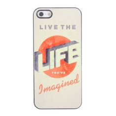 Bracevor Quotes Design Aluminium PC back case for iPhone 5 5s - Life