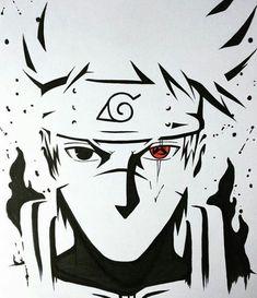Kakashi cara top no Naruto Naruto Shippuden Sasuke, Naruto Kakashi, Kakashi Sharingan, Anime Naruto, Naruto Art, Manga Anime, Boruto, Sasuke Sakura, Naruto Drawings