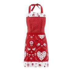 Red birds and hearts apron at debenhams.com